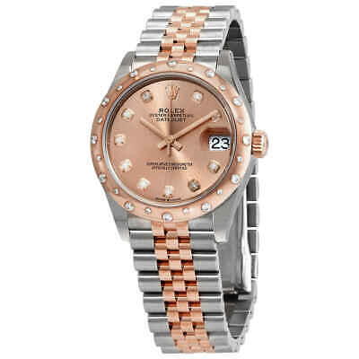 $ CDN21848.15 • Buy Rolex DateJust 31 Rose Dial Automatic Ladies Steel And 18kt Everose Gold Jubilee