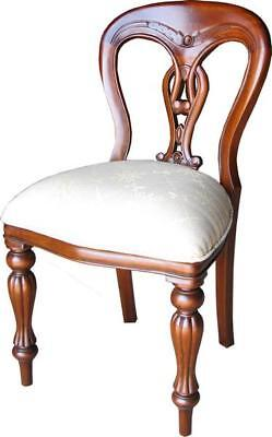 French Waxed Dining Chair Carved Balloon Back H99cm X W49cm X D44cm • 399£