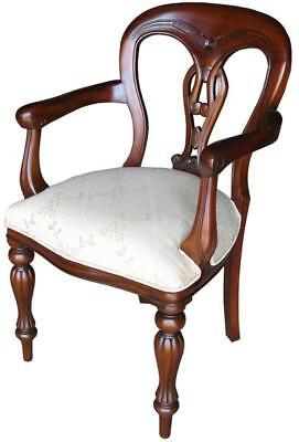 French Waxed Arm Chair With Rattan H91cm X W57cm X D49cm Wooden Dining Carver • 449£