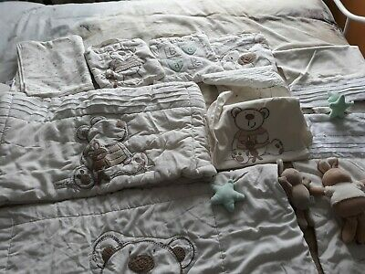 Mamas And Papas I Love My Bear Bedding Bundle  • 30£