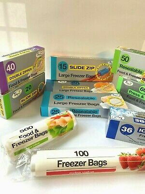 10 Different Sandwich Food & Freezer Bags And 11 Different Refuse Sacks 15L 70L • 7.35£