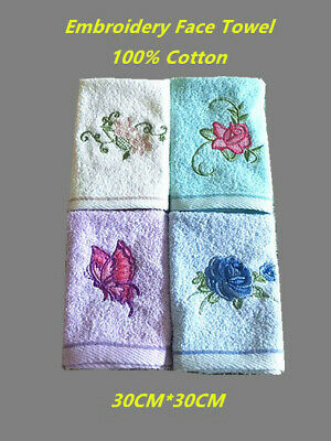 AU3.99 • Buy 100% Cotton Embroidery Face Washer Super Soft Absorbent Kitchen, Gym, Yoga Towel