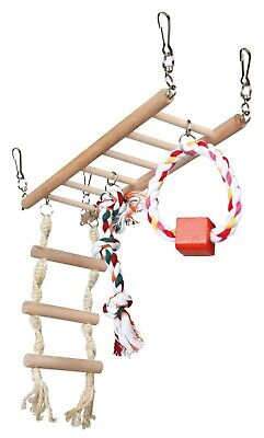 Suspension Bridge Ladder With Rope Ladder Hamster Mouse Gerbil Degu Cage Toy • 10.49£