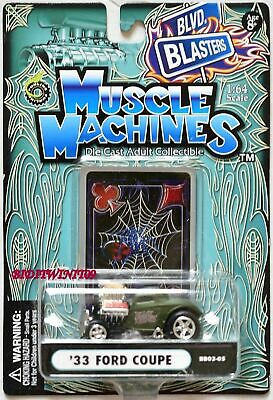 AU10.63 • Buy Muscle Machines '33 Ford Coupe Bb03-05 Green Scale 1:64 W+
