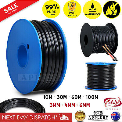 AU109.01 • Buy Twin Core Wire 3mm 4mm 6mm Dual 12V Electrical Copper Cable Automotive Battery