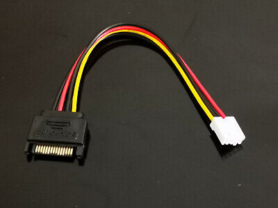 AU5.29 • Buy 1x SATA 15 Pin Male To Small 4 Pin Female Power Cable 20cm