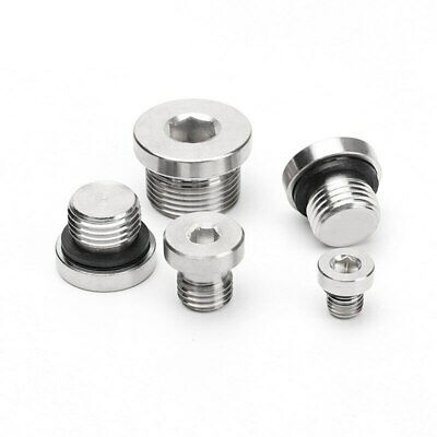 $3.35 • Buy Male Hex Countersunk Plug With Flange ED Washer SS304 Pipe Fitting
