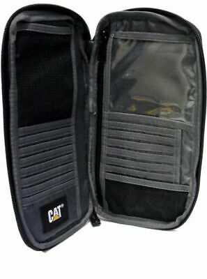 Caterpillar CAT Workwear Large Travel Wallet Bag - Black - New • 14.99£