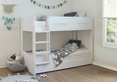 Childrens White Bunk Bed With Pullout Guest Bed  • 489£