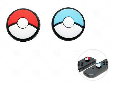 2x Pokeball Pokemon Blue Red Switch Cap Thumb Grips For Joystick Joy/con NSX  • 2.99£