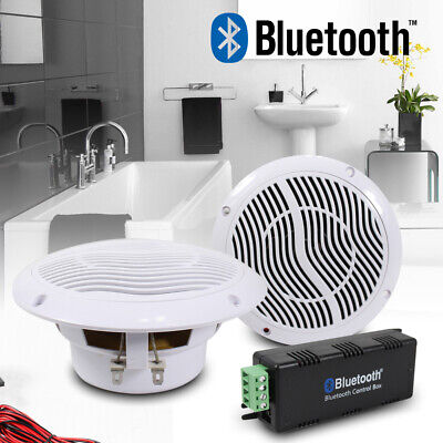 E-Audio Wireless Bluetooth Waterproof Outdoor Boat Conservatory Ceiling Speakers • 38.50£