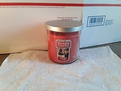 Yankee Candle Kitchen Spice  7oz Jar Candle BRAND NEW UNUSED!!!! 11-12 • 8.99£