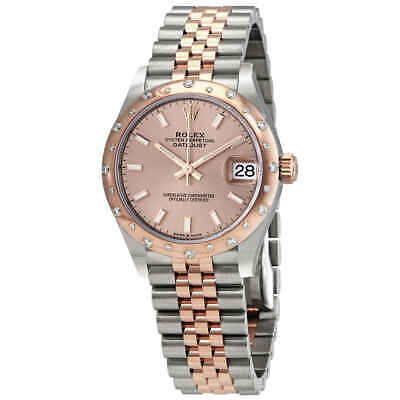 $ CDN19176.64 • Buy Rolex DateJust 31 Rose Dial Automatic Ladies Stainless Steel 18kt Everose Gold