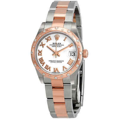 $ CDN18295.60 • Buy Rolex Datejust 31 White Dial Automatic Ladies Steel And 18kt Everose Gold Oyster