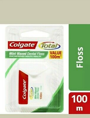 AU8.55 • Buy Colgate Total Mint Waxed Durable Oral Care Dentalfloss 100m.