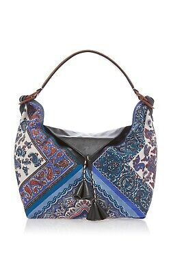 $650 • Buy Etro Blue Paisley Runway Designer Hobo Shoulder Handbag $1485