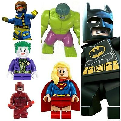 Batman,Joker,Daredevil,Hulk,Marvel Dc Super Hero Mini Figures Iron Man Robin • 2.89£
