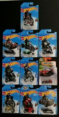 $18.95 • Buy Hot Wheels Matchbox Lot Of 10 Motorcycles BMW Ducati Polaris Tred Shred Monkey