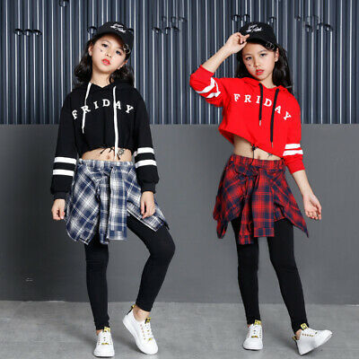 Girl Hip Hop Street Dance Jazz Dance Performance Clothing Suit Casual Wear New • 13.06£