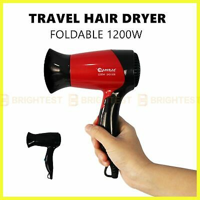 AU25.95 • Buy Foldable Portable Travel Hair Dryer Adjustable Heat Compact Blow Dryer 1200W