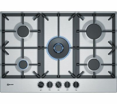 £259.99 • Buy NEFF N70 T27DS59N0  Cast Iron Gas Hob - Stainless Steel