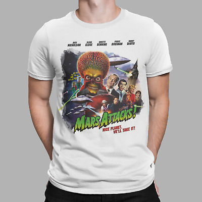 Mars Attacks T-shirt Alien Movie Film 90s Retro Cool Funny Movie Poster Gift  • 4.99£