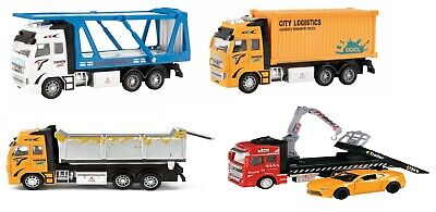 Die Cast Transporter Truck Container Rubbish Tipper Tow Truck Quality Toy Car • 19.99£
