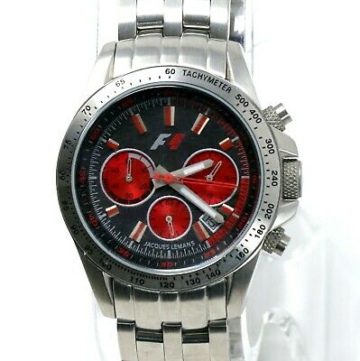 AU259.51 • Buy Jacques Lemans F5006K F1 Chronograph Women's Red Stainless Steel Watch Swiss