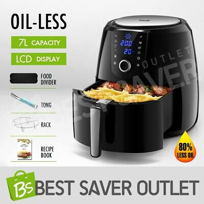 AU109.59 • Buy MAXKON 7L 1800W Air Fryer Healthy Cooker Deep Fryer Oil-Less Kitchen Oven W/ LCD