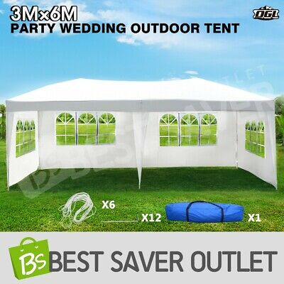 AU114.69 • Buy OGL Outdoor Tent Shade Marquee Canopy Camping 3x6M Party Wedding Gazebo 4 Walls
