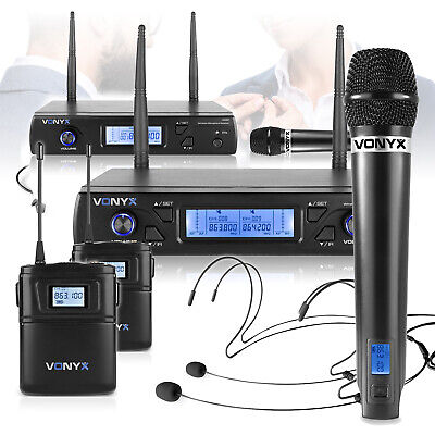 Wireless Microphone Systems Handheld Headset Bodypack WM6 16 Channel UHF Mics • 99.76£