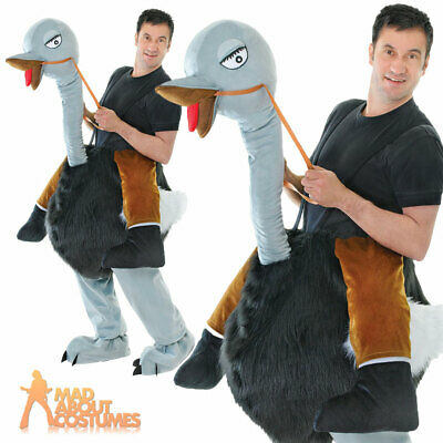 Adult Ostrich Costume Step In Bird Costume Animal Fancy Dress Outfit • 54.99£