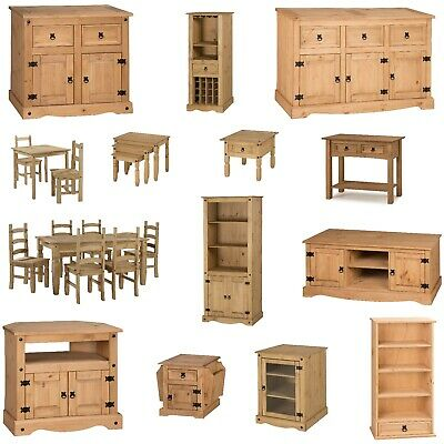 £65.99 • Buy Corona Furniture Solid Pine Living Dining Room Coffee Sideboard Bookcase TV Unit