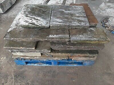 £95 • Buy Reclaimed Authentic Antique Yorkstone Flags Slabs Patio Garden Courtyard £95 !!!