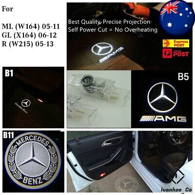AU54.99 • Buy 4x Logo Welcome Courtesy Door Puddle Lights For Mercedes Benz W164 ML GL R