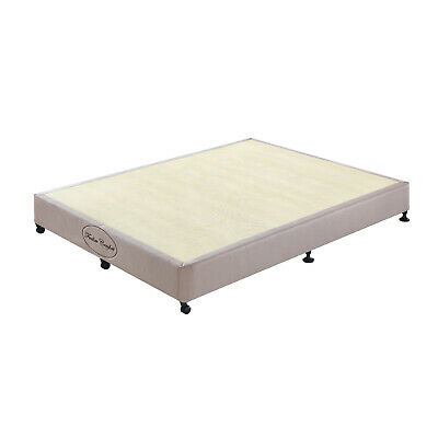AU259 • Buy Double Queen King Ensemble Mattress Bed Base Wooden KD Slat Support Fabric Frame