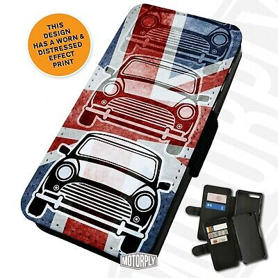 Printed Faux Leather Flip Phone Case For IPhone - Classic Mini Union Jack • 9.75£