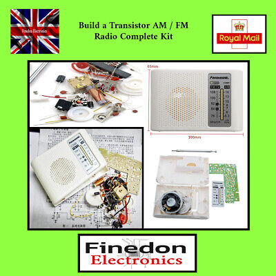 Build A Transistor IC AM / FM Radio CF210SP Complete DIY Kit UK Seller. • 12.25£