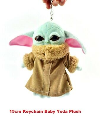 $11.99 • Buy 15cm 6  Keychain Baby Yoda Plush The Mandalorian Cute Toy Perfect For Gift !