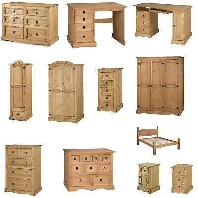 £149.99 • Buy Corona Furniture Solid Pine Bedroom Beds Bedside Tables Chests Drawers Wardrobes