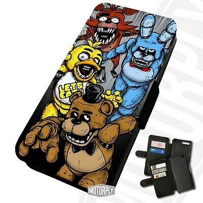 Printed Faux Leather Flip Phone Case For IPhone - Five Nights At Freddy's • 9.75£
