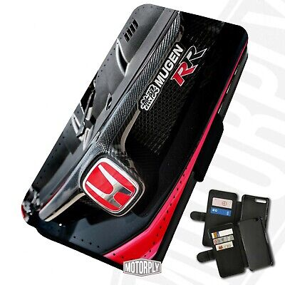Printed Faux Leather Flip Phone Case For IPhone - Honda Mugen FD2 Grille • 9.75£
