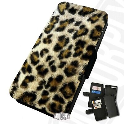 Printed Faux Leather Flip Phone Case For IPhone - Leopard Fur(Not Actual Fur) • 9.75£
