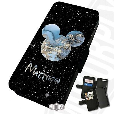 Printed Faux Leather Flip Phone Case For IPhone - Personalised Marble Mickey • 9.75£