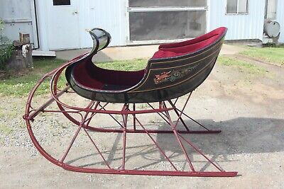 $4000 • Buy Horse Drawn Albany Cutter Sleigh Surrey Antique Carriage Buggy Cart Wagon