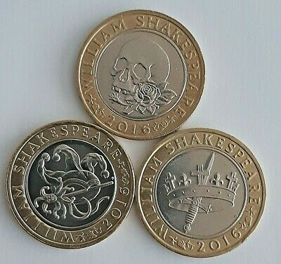 2016 William Shakespeare's £2 Coins Comedies Tragedies Histories Cheap Rare  • 5.99£