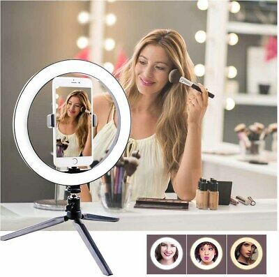 AU33.99 • Buy 10  Dimmable LED Ring Light Selfie MakeUp Lamp Video Lighting Phone Youtube Live