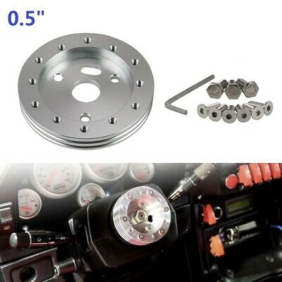 """$13.99 • Buy 0.5"""" Extension Hub Adapter Spacer For 6 Hole Steering Wheel To Grant Momo 3 Hole"""
