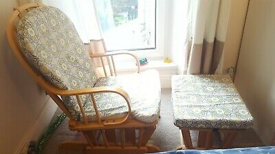 Nursery Rocking Chair With Foot Stool • 50£