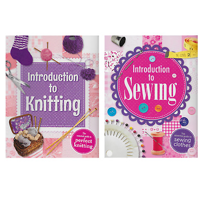 2 X Craft Books ~ Introduction To Knitting / Sewing • 5.99£